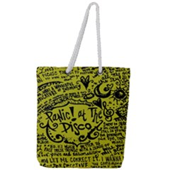 Panic! At The Disco Lyric Quotes Full Print Rope Handle Tote (large) by Samandel