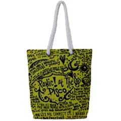 Panic! At The Disco Lyric Quotes Full Print Rope Handle Tote (small) by Samandel