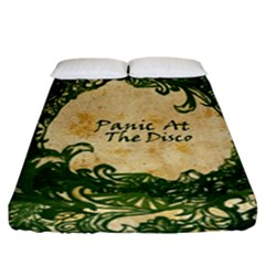 Panic At The Disco Fitted Sheet (king Size) by Samandel