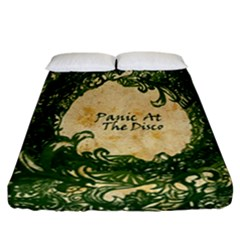 Panic At The Disco Fitted Sheet (california King Size) by Samandel