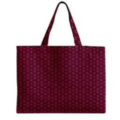 Ethnic Delicate Tiles Zipper Medium Tote Bag