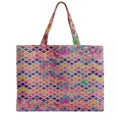 Zigzag Flower Of Life Pattern2 Zipper Mini Tote Bag by Cveti