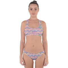 Zigzag Flower Of Life Pattern2 Cross Back Hipster Bikini Set