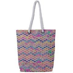 Zigzag Flower Of Life Pattern2 Full Print Rope Handle Tote (small) by Cveti