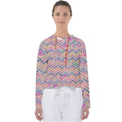 Zigzag Flower Of Life Pattern2 Women s Slouchy Sweat