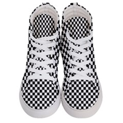 Checker Black And White Women s Hi Top Skate Sneakers