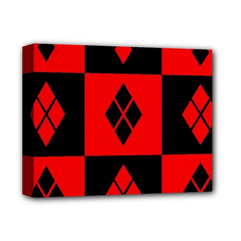 Red And Black Pattern Deluxe Canvas 14  X 11