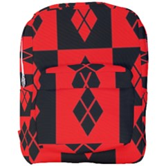 Red And Black Pattern Full Print Backpack