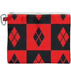 Red And Black Pattern Canvas Cosmetic Bag (xxxl)