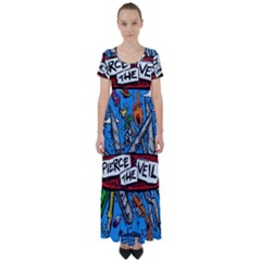 Album Cover Pierce The Veil Misadventures High Waist Short Sleeve Maxi Dress