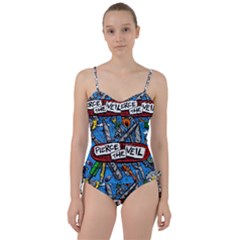 Album Cover Pierce The Veil Misadventures Sweetheart Tankini Set by Samandel