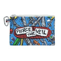 Album Cover Pierce The Veil Misadventures Canvas Cosmetic Bag (large)