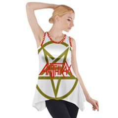 Anthrax Band Logo Side Drop Tank Tunic