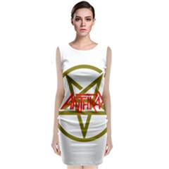 Anthrax Band Logo Classic Sleeveless Midi Dress