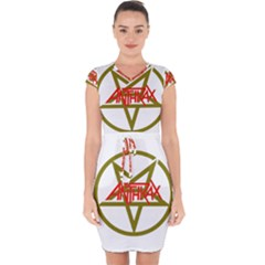 Anthrax Band Logo Capsleeve Drawstring Dress