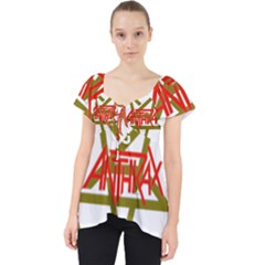 Anthrax Band Logo Lace Front Dolly Top