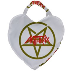 Anthrax Band Logo Giant Heart Shaped Tote by Samandel