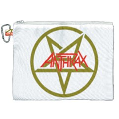 Anthrax Band Logo Canvas Cosmetic Bag (xxl)