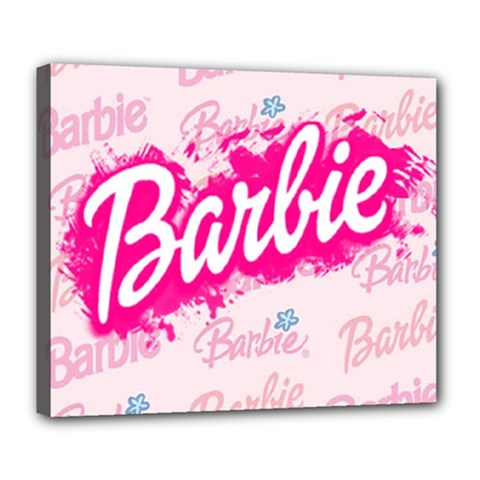 Barbie Pattern Deluxe Canvas 24  X 20   by Samandel