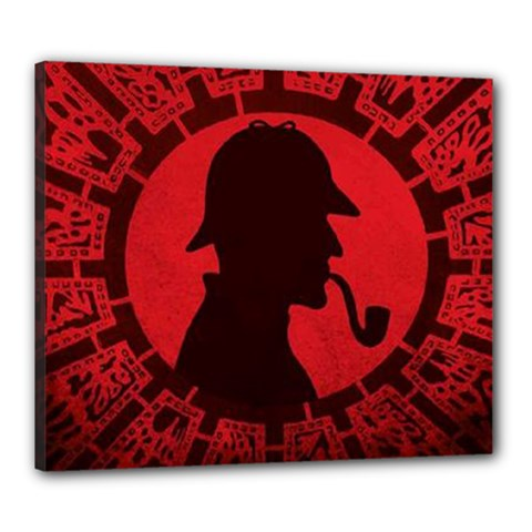 Book Cover For Sherlock Holmes And The Servants Of Hell Canvas 24  X 20