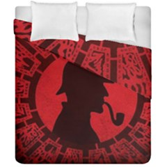 Book Cover For Sherlock Holmes And The Servants Of Hell Duvet Cover Double Side (california King Size)
