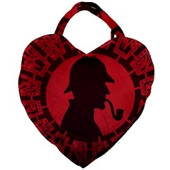 Book Cover For Sherlock Holmes And The Servants Of Hell Giant Heart Shaped Tote