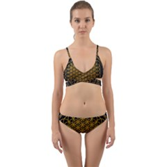 Tree Of Live Pattern Wrap Around Bikini Set