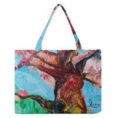 Big Coral Tree Zipper Medium Tote Bag by bestdesignintheworld