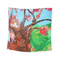 Coral Tree Blooming Square Tapestry (small) by bestdesignintheworld