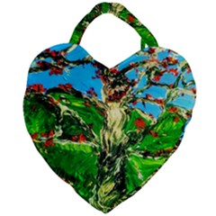 Coral Tree 2 Giant Heart Shaped Tote by bestdesignintheworld