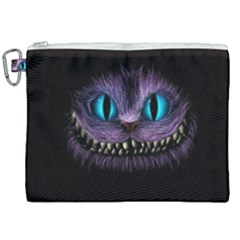 Cheshire Cat Animation Canvas Cosmetic Bag (xxl)