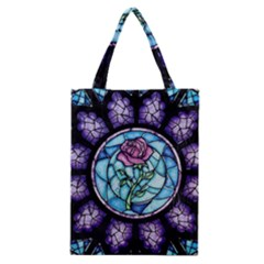 Cathedral Rosette Stained Glass Classic Tote Bag by Samandel