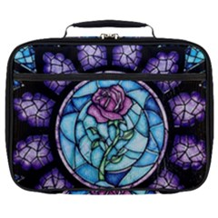 Cathedral Rosette Stained Glass Full Print Lunch Bag by Samandel