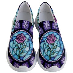 Cathedral Rosette Stained Glass Women s Lightweight Slip Ons by Samandel