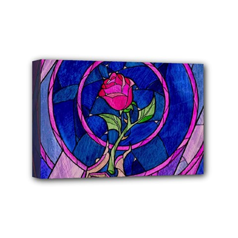 Enchanted Rose Stained Glass Mini Canvas 6  X 4  by Samandel