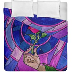 Enchanted Rose Stained Glass Duvet Cover Double Side (king Size) by Samandel