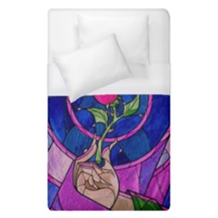 Enchanted Rose Stained Glass Duvet Cover (single Size) by Samandel