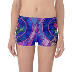 Enchanted Rose Stained Glass Reversible Boyleg Bikini Bottoms