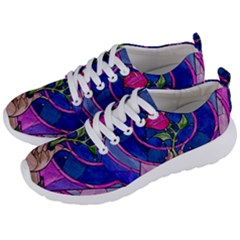 Enchanted Rose Stained Glass Men s Lightweight Sports Shoes by Samandel