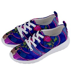 Enchanted Rose Stained Glass Women s Lightweight Sports Shoes by Samandel