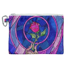 Enchanted Rose Stained Glass Canvas Cosmetic Bag (xl) by Samandel