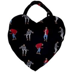 Drake Ugly Holiday Christmas Giant Heart Shaped Tote by Samandel