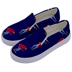 Drake Ugly Holiday Christmas Kids  Canvas Slip Ons by Samandel