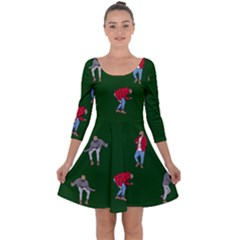 Drake Ugly Holiday Christmas Quarter Sleeve Skater Dress