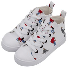 Drake Ugly Holiday Christmas Kid s Mid Top Canvas Sneakers by Samandel