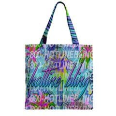 Drake 1 800 Hotline Bling Zipper Grocery Tote Bag by Samandel