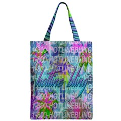 Drake 1 800 Hotline Bling Zipper Classic Tote Bag by Samandel
