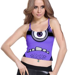 Evil Purple Spaghetti Strap Bra Top by Samandel