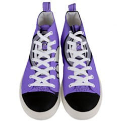 Evil Purple Men s Mid Top Canvas Sneakers