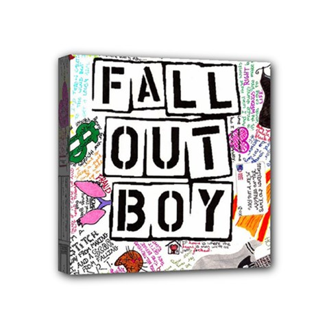 Fall Out Boy Lyric Art Mini Canvas 4  X 4  by Samandel